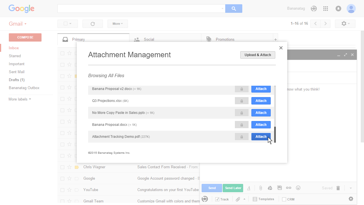 How to track attachments in Gmail Step 5