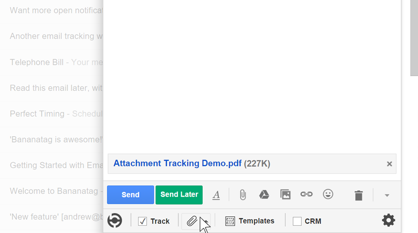 How to track attachments in Gmail