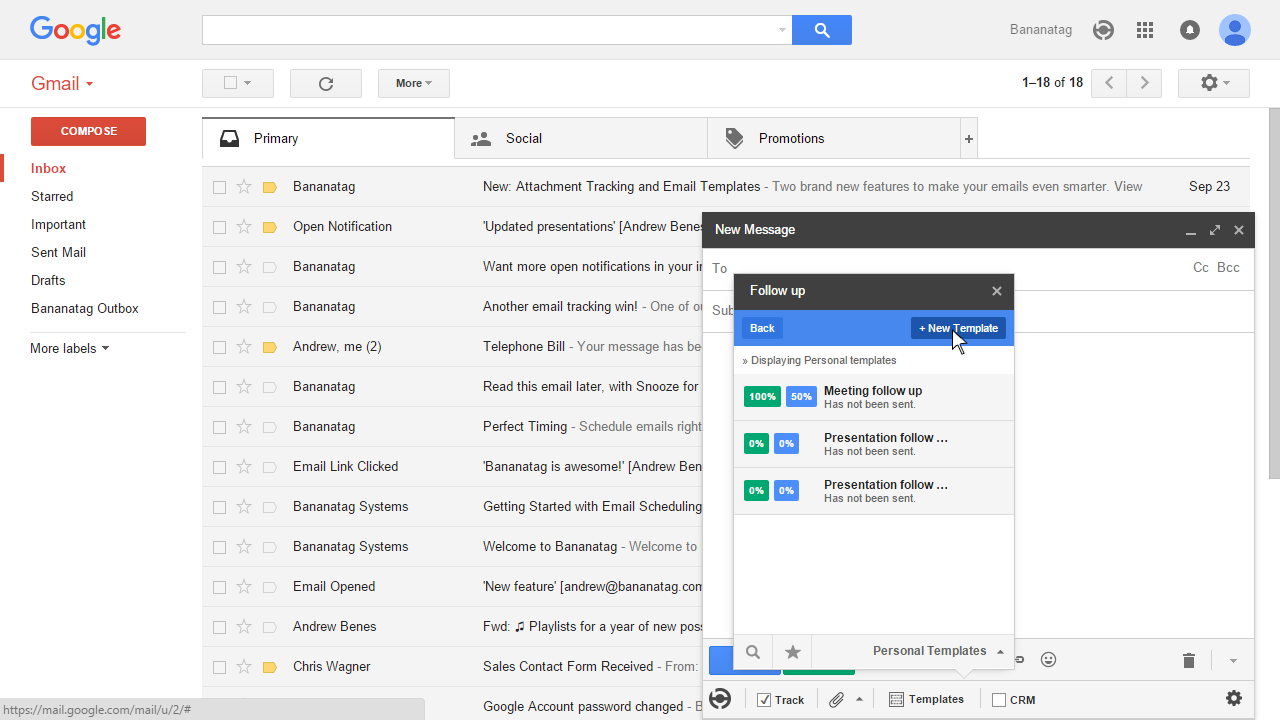 How To Use Email Templates In Gmail Bananatag - Set up email template