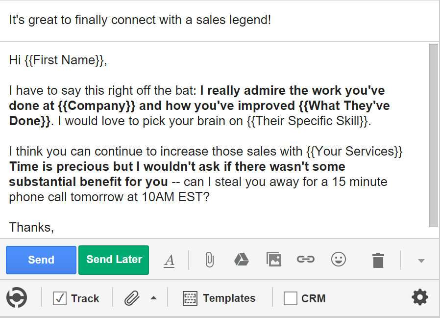 5 Cold Email Templates for Sales- Bait and Praise