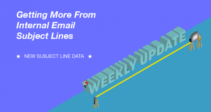 Internal email subject line data- Bananatag
