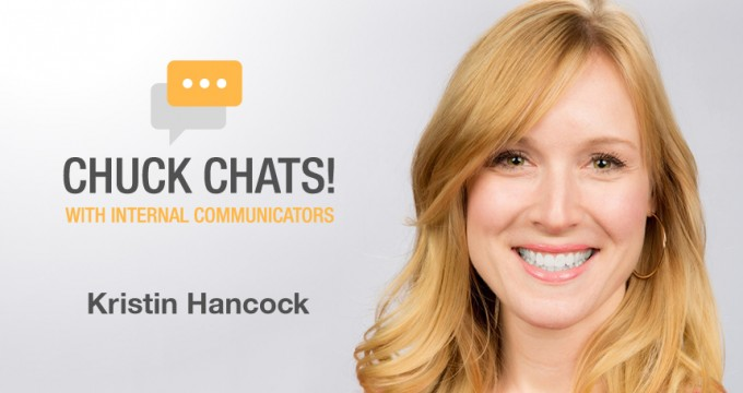 Chuck Gose chats with Internal Communicator Kristin Hancock