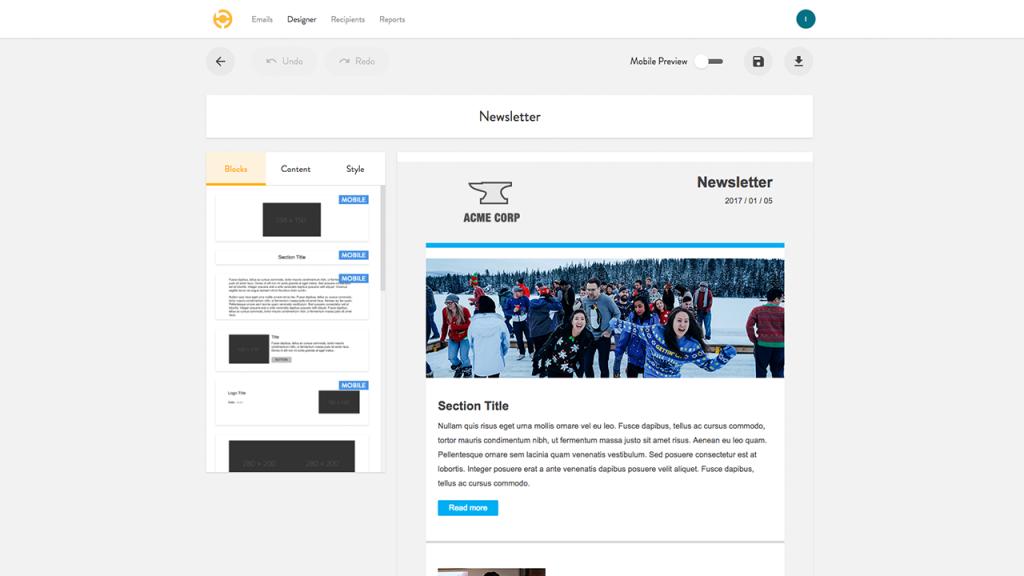 Internal newsletter template for internal communicators using Outlook
