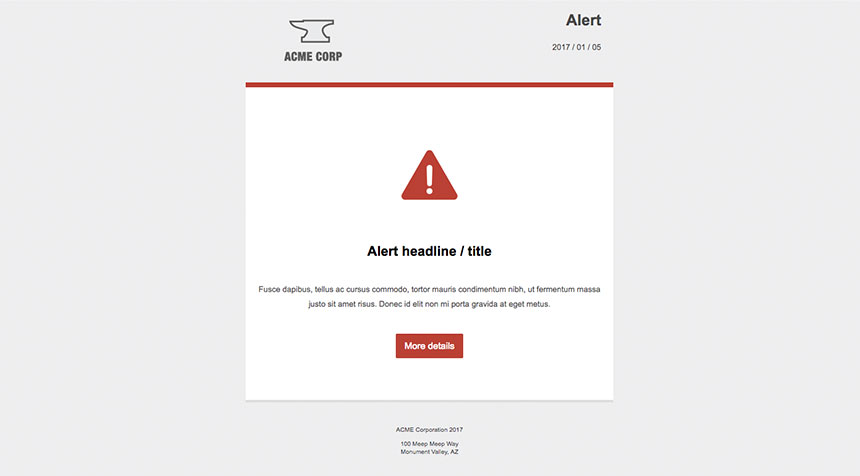 internal email template for crisis communications