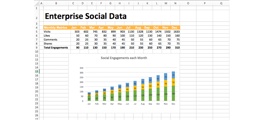 enterprise-social data-excel-internal comms-bananatag