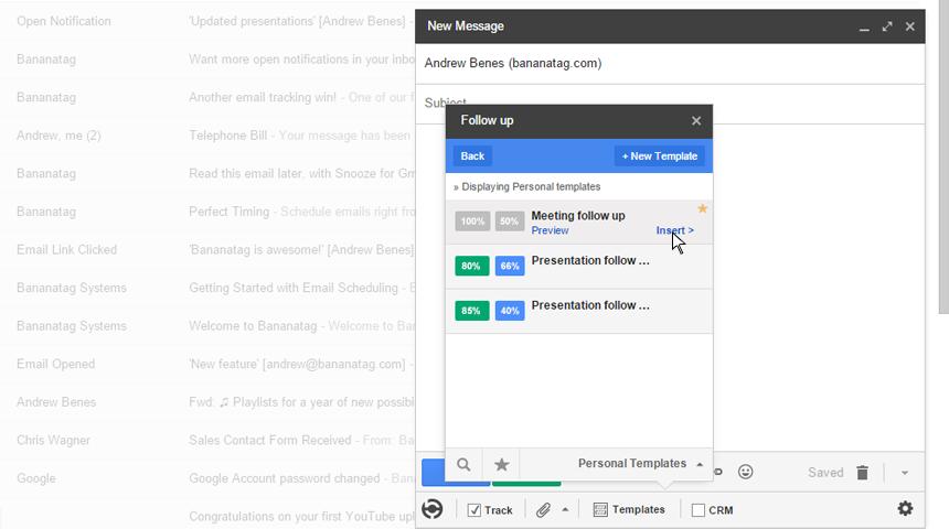 bananatag gmail